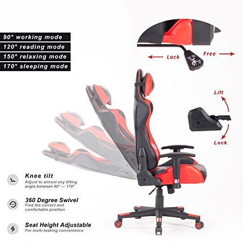 Homefun Computer Gaming Chair Ergonomic Pc Game Chair