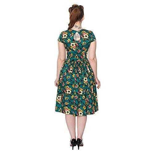 Banned Daytrip Robe Longue Rétro & Plissée Motifs Fleuri (Multicolore)