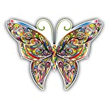 Tracery Butterfly Car Bumper Sticker Decal 5'' x 4''
