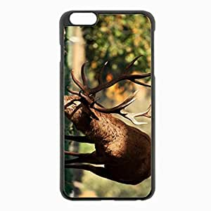 iPhone 6 Plus Black Hardshell Case 5.5inch - deer walk horns fall Desin Images Protector Back Cover