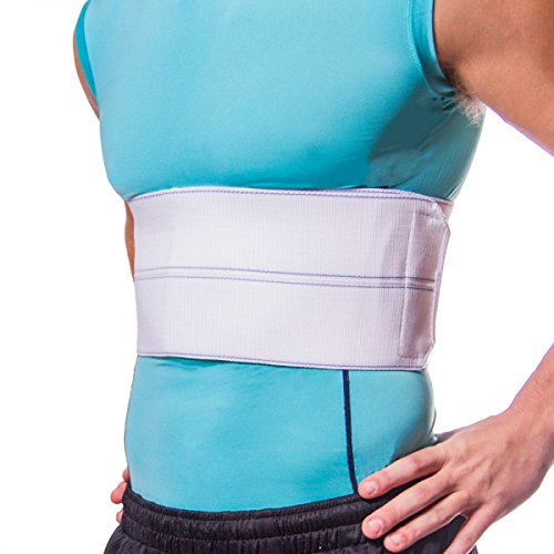 BraceAbility Broken Rib Brace | Elastic Chest Wrap Belt for Cracked, Fractured or Dislocated Ribs Protection, Compression and Support