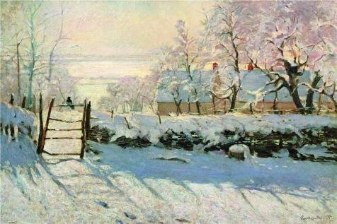 'The Magpie, 1869 By Claude Monet' Oil Painting, 8x12 Inch / 20x31 Cm ,printed On High Quality Polyster Canvas ,this Amazing Art Decorative Canvas Prints Is Perfectly Suitalbe For Powder Room Decoration And Home Decoration And Gifts (Nick Hotel Tickets compare prices)