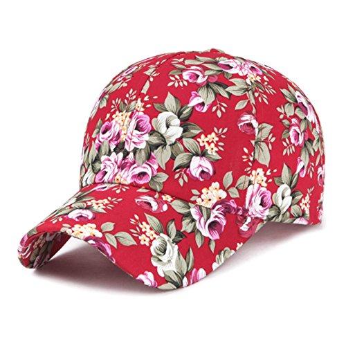Gaojuan Sun Cap Spring and Summer New Models Flowers Tourism Sun Hat Korean Version Leisure Visor Baseball Cap (Color : C)