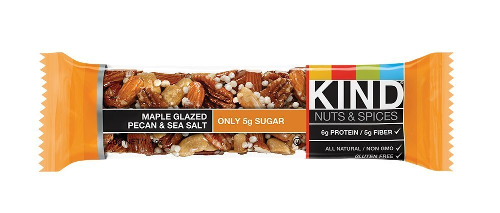 KIND Nuts & Spices wmpme Bars - Maple Glazed Pecan & Sea Salt - 48 Count by KIND (Image #1)