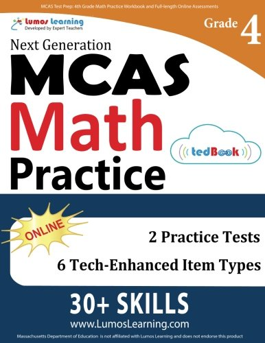 MCAS Test Prep: 4th Grade Math Practice Workbook and Full-length Online Assessments: Next Generation Massachusetts Comprehensive Assessment System Study Guide