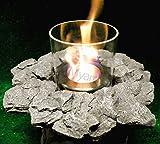 Myard TableTop Fireplace Fire Rock