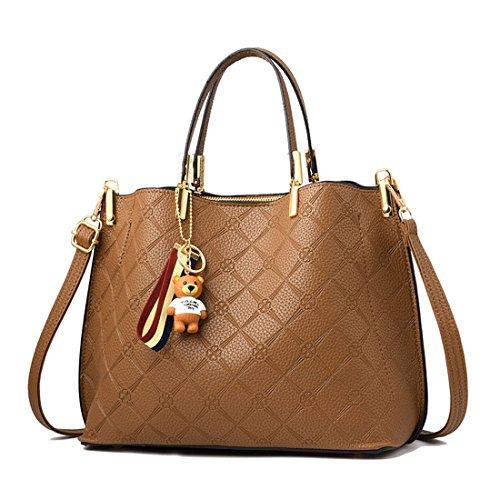 Shoppers y Mujer de Bolsos bandolera y hombro Carteras de Barna V1 mano bolsos clutches Hawdrnw5q