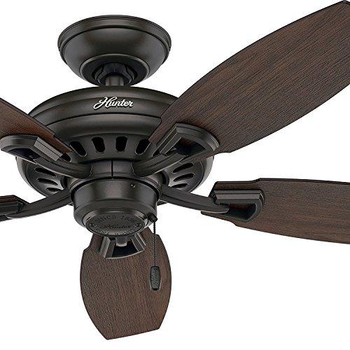 Hunter Fan 44in New Bronze Ceiling Fan without Light Kit, 5 Blade Renewed