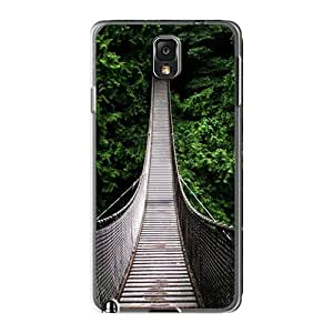 Durable Protector Case Cover With Wooden_bridge_washington_rope_pine_tree_canada_oregon_landscapes_nature__1080 Hot Design For Galaxy Note3 by lolosakes