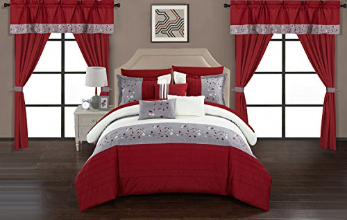 Chic Home Sonita 20 Piece Comforter Set Color Block Floral E