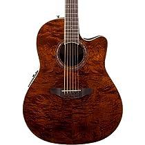 Ovation CS24P-NBM Acoustic-Electric Guitar Nutmeg, Burled Maple