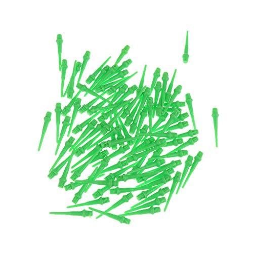 Lovoski ダーツ矢印 ソフトヒント ポイント 2BA標準ダーツ針 交換用 約100ピース 全3色選べ - 緑  説明したように