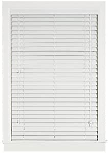 Achim Home Furnishings Madera Falsa 2-Inch Faux Wood Blind, 35-Inch by 64-Inch, White