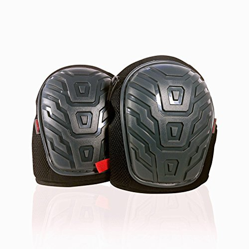 Heavy Duty Adjustable Knee Pads for Men and Women - Thick Foam Padding, Supportive Gel Cushion, Strong Double Velcro and Neoprene Straps for Cleaning, Gardening and Construction