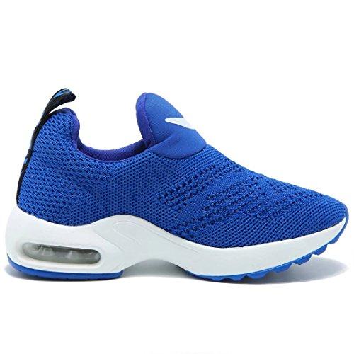 BODATU Kids Boys Running Shoes Comfortable Fashion Light Weight Slip on Cushion(10, Blue) - Image 3