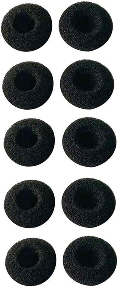 H HILABEE Reemplazo Almohadilla De Espuma Auricular Auricular Paquete De 10 Fundas De Cojines De Esponja para Plantronics Voyager//Pro //