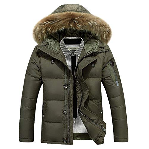 Col Army Canard Chaud Hommes Courte Fashion Green Casual Wehor Capuche Doudoune Fourrure Hiver 81zqP6WxnY