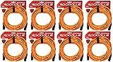 Rockville RCXFM50P-O Orange 50' Female to Male REAN XLR Mic/Speaker Cable