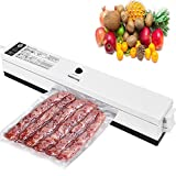 Vacuum Sealer,Portable Vacuum Packing Machine 110V,Automatic Food Preservation with Starter Kit for Food Saver + 20 pcs Sealer Bags for Free Gift