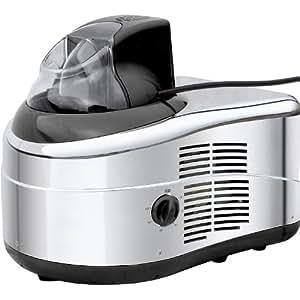 Gino Gelati IC-160W-BS - Heladera con compresor, yogurtera, máquina de batidos y enfriador de botellas