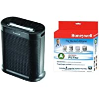 Honeywell True HEPA Allergen Remover, 465 Sq Ft, HPA300 and Honeywell Filter A HRF-AP1 Universal Carbon Air Purifier Replacement Pre-Filter Bundle