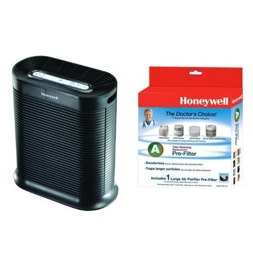 Honeywell True HEPA Allergen Remover, 465 Sq Ft, HPA300 and Honeywell Strainer A HRF-AP1 Universal Carbon Air Purifier Replacement Pre-Filter Bundle