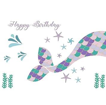 OERJU 2,2x1,5m Cumpleaños Fondo Feliz Cumpleaños Mar Mundo ...
