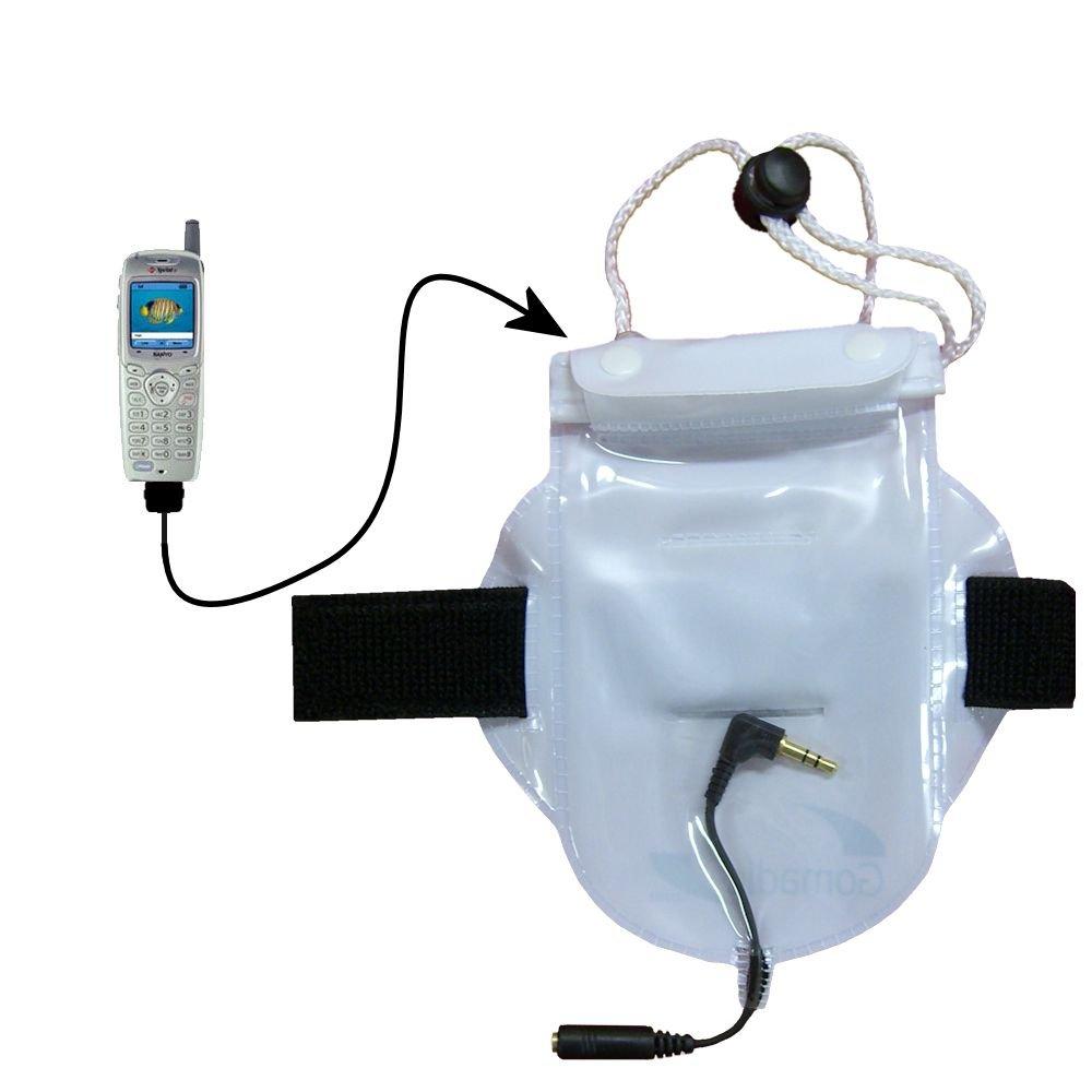 水ホコリ、砂防止バッグワークアウトアクセサリーHeaphoneパススルーfor use with the Sanyo scp-4900 / SCP 4900   B000F7P17K
