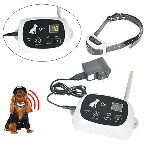 iMeshbean Wireless Remote Dog Training Collar with Beep/Vibra/Shock Electric E-collar1 Dog Fence No-Wire Pet Containment System Rechargeable &Waterproof