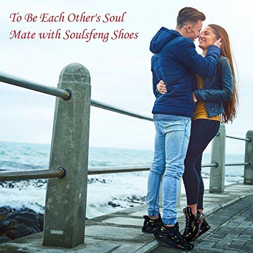 Laufschuhe für Frauen Männer, Flyknit Mode Turnschuhe Männer Frauen, leichte Schaumkissen Trail breite Herrenschuhe für Jungen Mädchen Damen Jugend Sprühfarbe