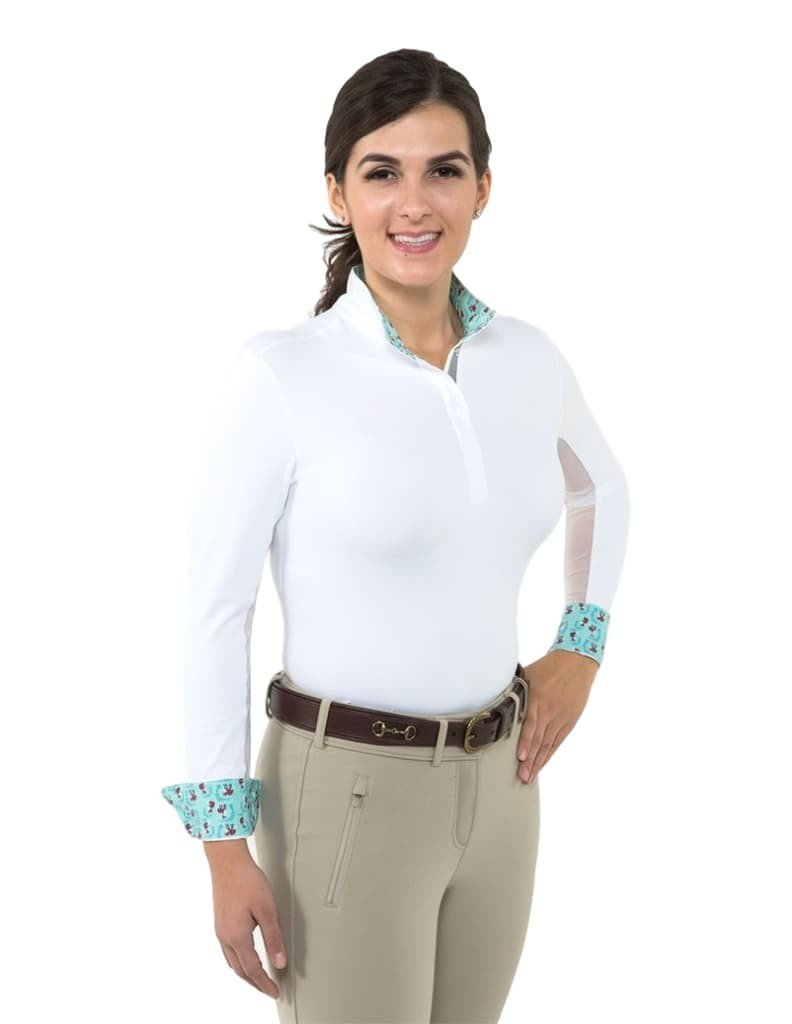 Noble Outfitters Allison Show Shirt - White/Fox Print XS 21513