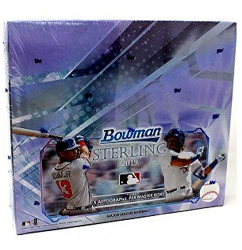 2019 Bowman Baseball Card - 2019 Bowman Sterling MLB Baseball HOBBY box (30 cards incl. FIVE Autograph cards)