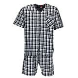 Hanes Men's Short Sleeve Short Leg Pajama Set, XL, New Black