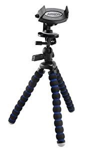 Arkon iPhone Tripod Mount for iPhone X iPhone 8 7 6S Plus iPhone 8 7 6S Galaxy Note 8 5 S8 S7 Retail Black