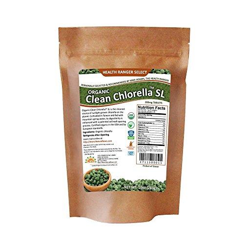 Organic Clean Chlorella Sl 200mg Tablets (10oz, 283g), 1415 Tablets