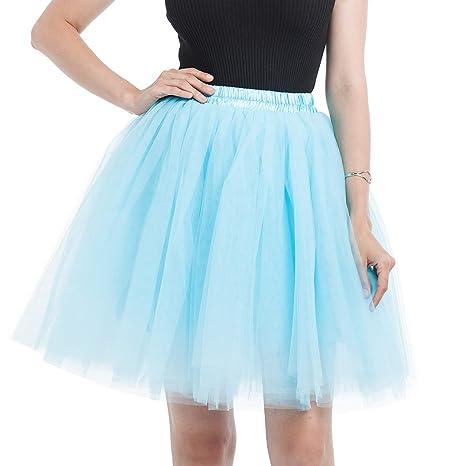 Falda de tutú de Las Mujeres Midi Tulle Faldas 7 Capas de Falda de ...