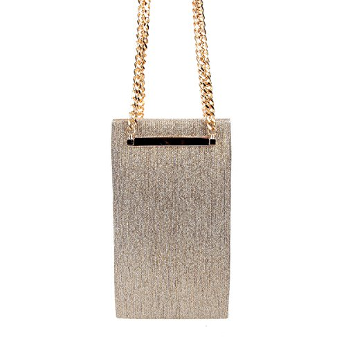 Party Big Women Shining Clutch Chain Bag Gold Evening Bonjanvye Purses for 8fpq5Bx