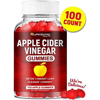 Amazon.com: Apple Cider Vinegar Gummies (120 Pack) - Gummy