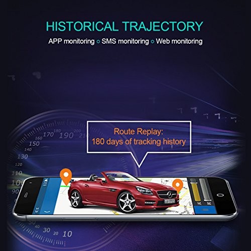 GPS Tracker, VIFLYKOO Vehicle GPS Tracking System with No Monthly Fee, Waterproof Magnetic GPS Tracker Real Time Personal for Vehicle Anti Theft / Teen Driving