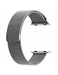 BRG Milanese Loop Stainless Steel Replacement iWatch Band for Apple Watch Series 1/2 - 38mm Silver