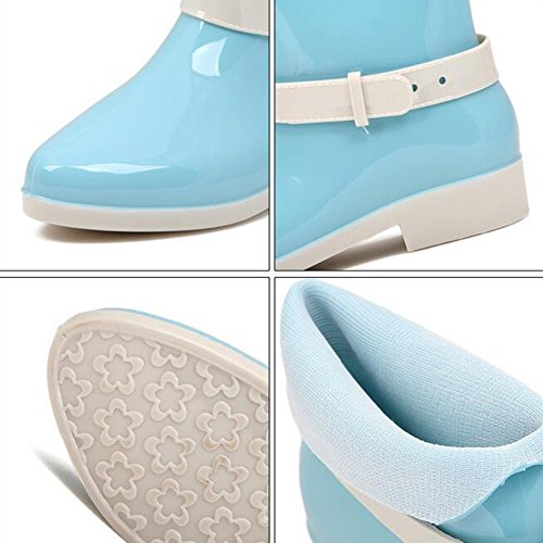 Bambina Pioggia Blue Anday Stivali Color Candy Pure Wellies Gelatina Anklt Da wfq7Of