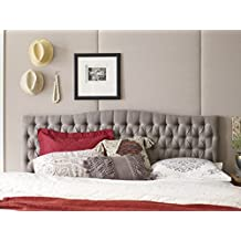 Elle Decor FF16060H Tufted Headboard, King/California King, Brown