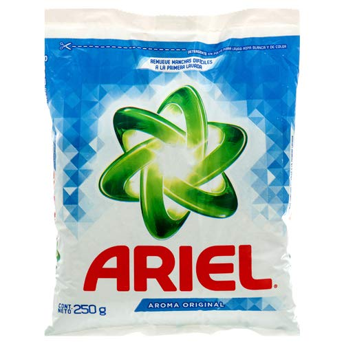 - New 350345 Ariel Powder Detergent 250 Gr Oxianillo (36-Pack) Laundry Detergent Cheap Wholesale Discount Bulk Cleaning Laundry Detergent Bud Vase