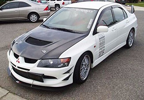 Fit Front Bumper Lip Splitter Fins Body Spoiler Canards Valence Chin