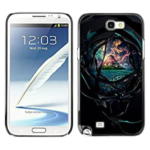 Planetar® ( The Dark Tunnel To The Beautiful Island ) SAMSUNG Galaxy Note 2 II / N7100 Fundas Cover Cubre Hard Case Cover