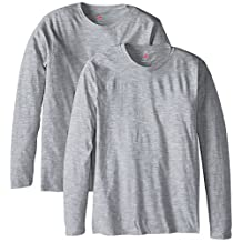Hanes mens Long-sleeve Premium T-shirt (Pack of 2)