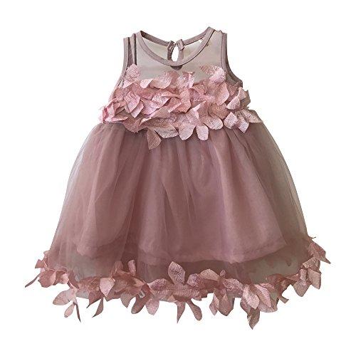 Nonna Bambini Chloe Little Girl Flower Girl Dress Pink (2)