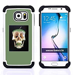 - APPLE DOCTOR AWAY DEATH SKULL CORE - - Doble capa caja de la armadura Defender FOR Samsung Galaxy S6 G9200 RetroCandy