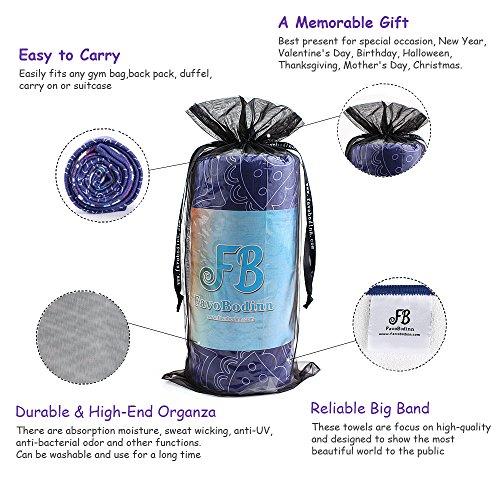 "Favobodinn Yoga Mat Towel Super Skidless Microfiber Yoga Towel with Nice Organza Gift Bag for Hot Yoga, Bikram and Pilates (24""x72"")"