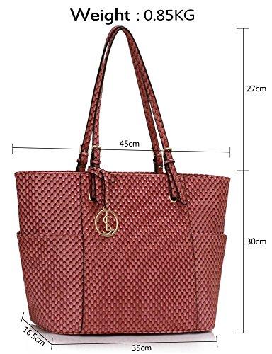 ANNA GRACE - Bolso cruzados de Charol para mujer Design 1 - Pink